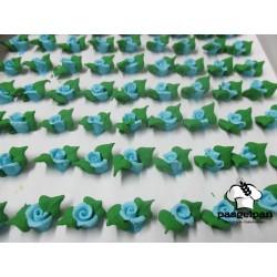 Botões Azuis com Folha Nº0 Cx100
