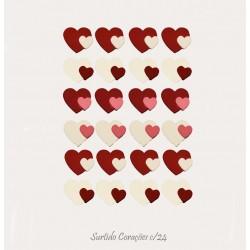 Corações de Açúcar Cx24