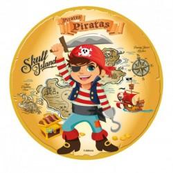 Disco de Açúcar Piratas 16cm