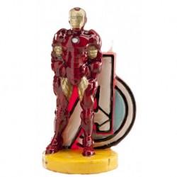 Vela Homem Ferro 8,5cm