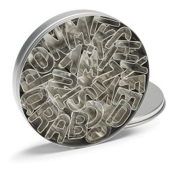 Cortantes Metal Letras 26pcs