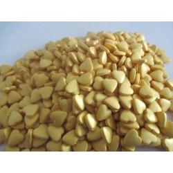Corações de Açúcar Dourados 200g