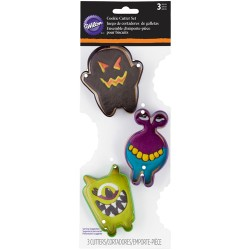 Cortantes Halloween Monstros Cj.3