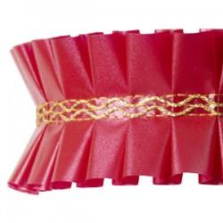Fita Plissada Vermelha 10mts x 5cm