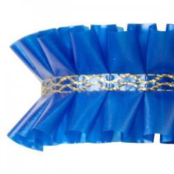 Fita Plissada Azul Escuro 10mts x 5cm