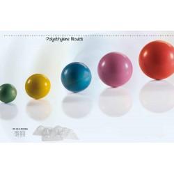 Molde Plástico Esferas Cj.4