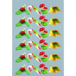 Decorações Natal Açucar Cx.24