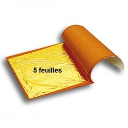 Folhas de Ouro Comestivel 22 quilates Cj.5