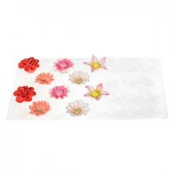 Molde Plastico Modelar Flores 2pcs