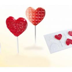 Molde Plástico Corações Pop