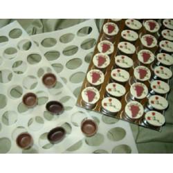 Molde SIlicone para placas Chocolate Ovais