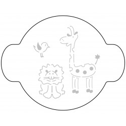 Stencil 10cm com Animais