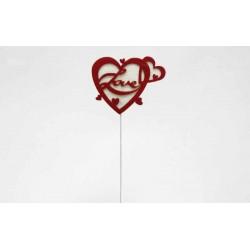 Coração com Pico 8,5cm - Emb.6