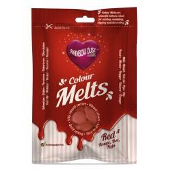 Colour Melts (Chocolate Pastilha) Vermelho 250g
