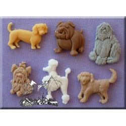 Molde Silicone Cães