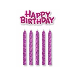 Velas Azuis + Happy Birthday Cj.16