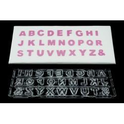 Cortante Ejector Letras Maiúsculas Block Clikstix