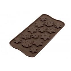 Molde Silicone Flocos Neve Chocolate