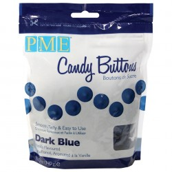 Candy Buttons Azul Escuro (Chocolate Pastilha) 340g