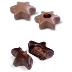Estrelas Chocolate Leite para Rechear Cj.42