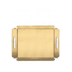 Bandeja Dourada 25 x 34 x 2,5 cm