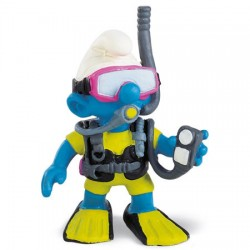 Smurf Mergulhador 5cm