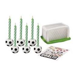 Wilton-Kit com Velas Futebol