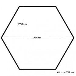 Forma Bolos Hexagono Nº1
