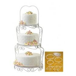 Wilton-Expositor bolos 3 andares