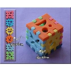 Molde Silicone Cubo 3D