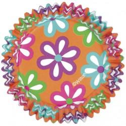 Petifur Laranja com Flores Coloridas