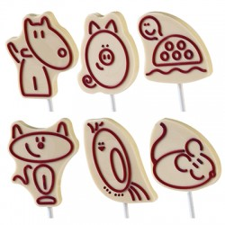 Molde Para Chocolate Animais