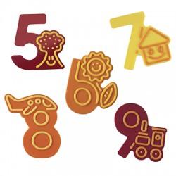 Molde Para Chocolate Números (5 a 9)