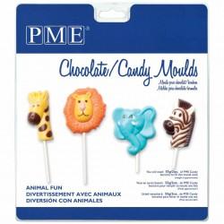 Molde Plástico Chocolate Animais Lollipop