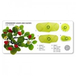 PME - JEM STRAWBERRY LEAVES & CALYXES SET/4