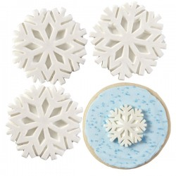 Flocos de Neve Royal Icing Cj.12