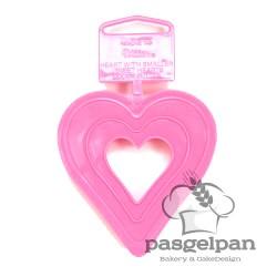 Cortante Plástico Coração 7cm