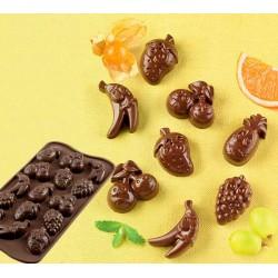 Molde Silicone Bombons Frutas