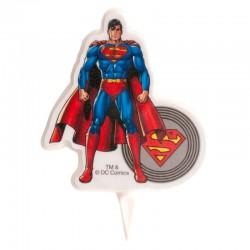 Vela Super Homem 7,5cm