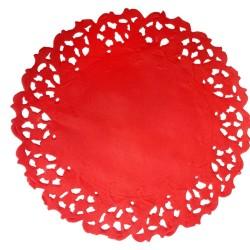 Naperons Vermelhos 11cm - Cj50