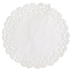 Naperons Brancos 9cm Cj.40