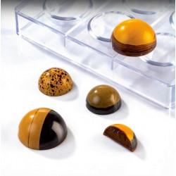 Molde Policarbonato Meia Esfera Pq Chocolate