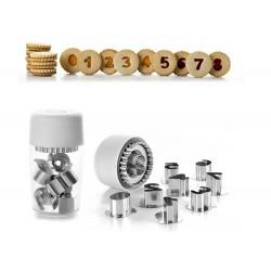 Cortantes Metalicos Bolachas com Numeros