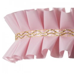 Fita Plissada Rosa 10mts x 5cm
