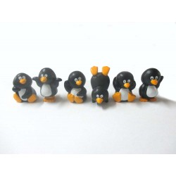Pinguins 3,5cm Pvc Cj.6