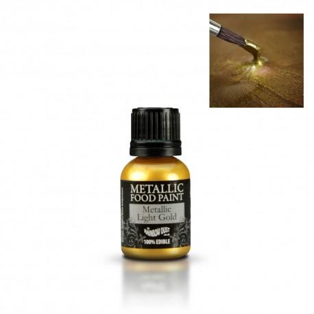 Corante Alimentar Liquido Metalizado Dourado Claro 25ml
