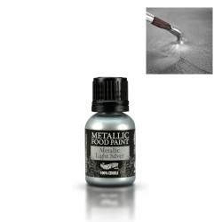 Corante Liquido Metalizado Prateado Claro 25ml