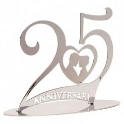 Arranjo Metalico 25 Anos 20X16cm