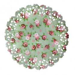 Naperons Verde com Flores 11cm Cj.50