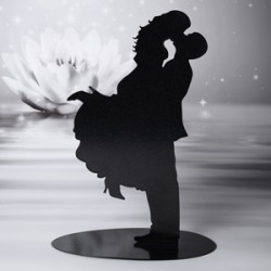 Noivos Silhueta a Beijar 20cm